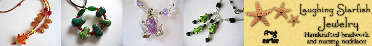 Visit my Jewelry Site and look for some handcrafted frog themed stuff!